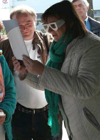 Brille zur Simulation einer Sehschwaeche