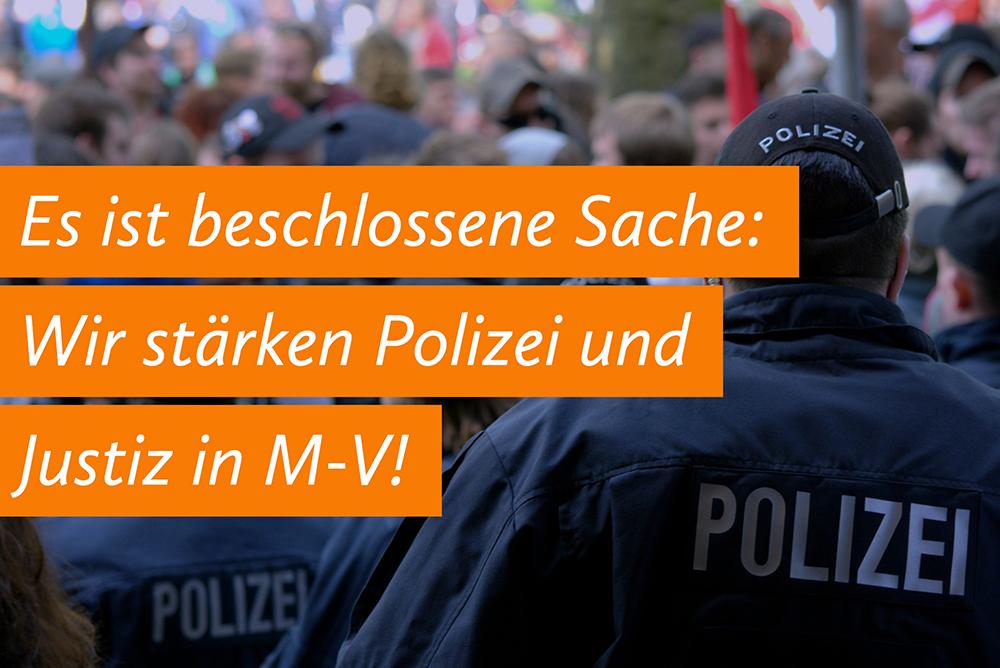 Pakt für Justiz und Polizei