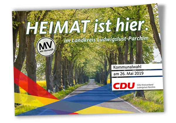 CDU-Kreisverband Ludwigslust-Parchim Wahlprogramm Deckblatt