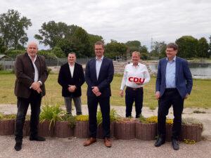 Gruppenbild mit Christian Greger, Bürgermeisterkandidat Wittenburg 2020